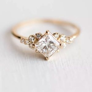Jewelry - 18 K Plated Gold White Sapphire Ring